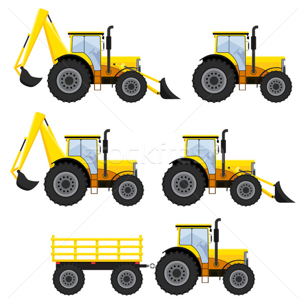 Set of vehicles and tractors. Stock photo © Neokryuger