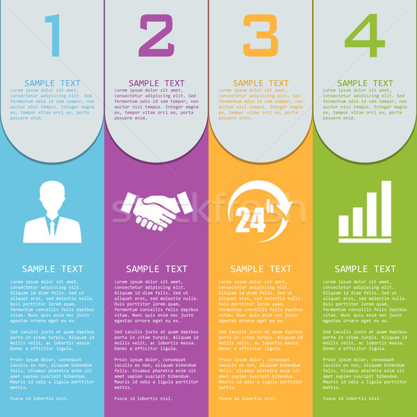 Vector elements for infographics. Stock photo © Neokryuger