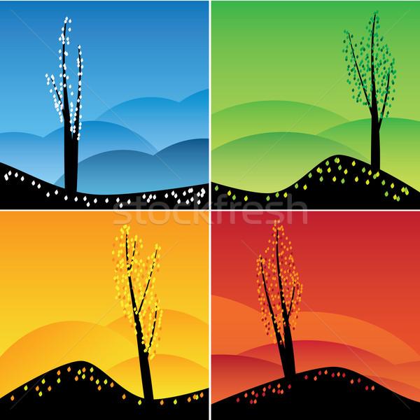 Four seasons set. Stock photo © Neokryuger