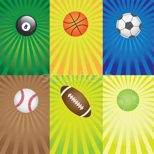 Set of balls for sport games. Stock photo © Neokryuger