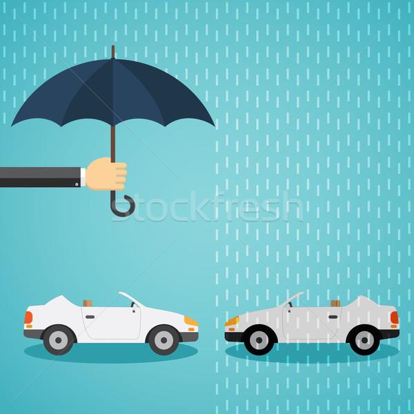 Mano ombrello auto uno protezione un altro Foto d'archivio © Neokryuger
