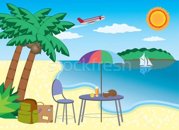 Vacation at the seashore. Stock photo © Neokryuger
