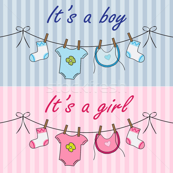 It is a boy and it is a girl announcement Stock photo © Neokryuger