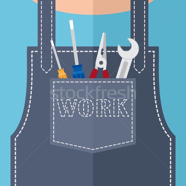 ポケット 修復 ツール レンチ 作業 ワーカー ストックフォト © Neokryuger