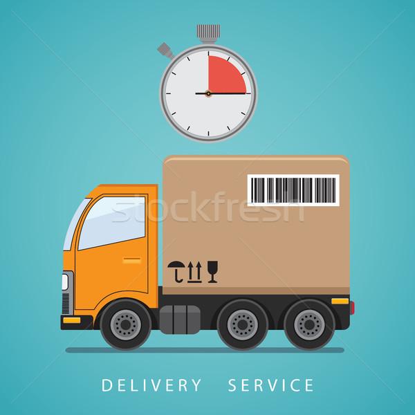 Expedição serviço caminhão de entrega grande carro Foto stock © Neokryuger
