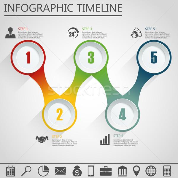 Infografica modello di progettazione marketing icona business opzioni Foto d'archivio © Neokryuger