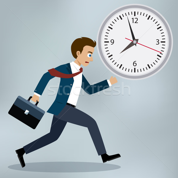 Business man running and hurry up. Stock photo © Neokryuger