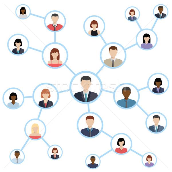ソーシャルメディア ネットワーク 接続 アイコン ビジネス ウェブ ストックフォト © Neokryuger