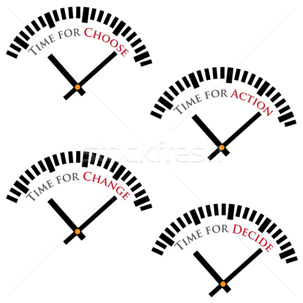 Set of time concepts. Stock photo © Neokryuger