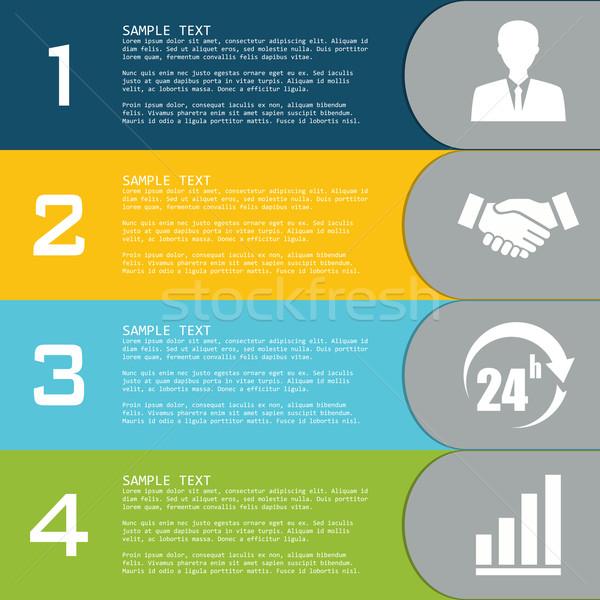 Vettore elementi infografica modelli presentazioni business Foto d'archivio © Neokryuger