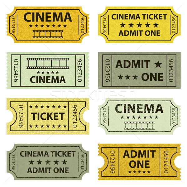 Retro cinema tickets. Stock photo © Neokryuger