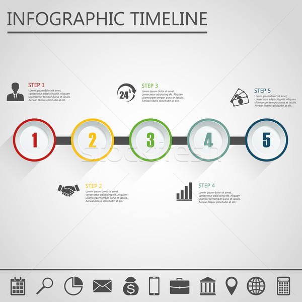 Ontwerpsjabloon marketing iconen business gegevens Stockfoto © Neokryuger