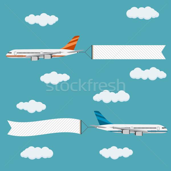 飛行 機 バナー テンプレート 文字 デザイン ストックフォト © Neokryuger