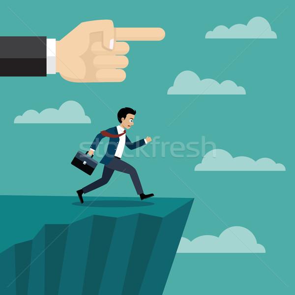Foto stock: Patrão · mão · empresário · cair · céu