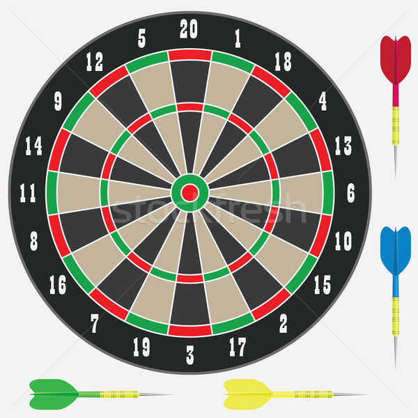 Dartboard with darts. Stock photo © Neokryuger