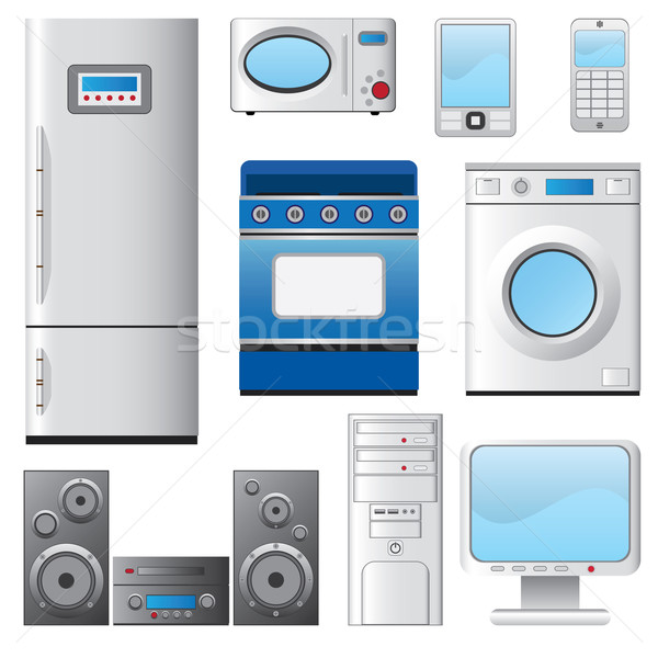 Set of house appliances. Stock photo © Neokryuger