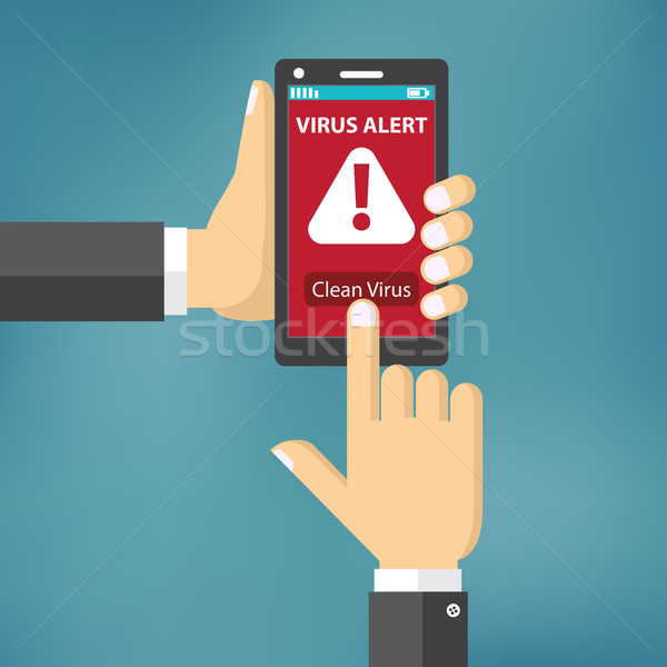 Virus on mobile phone concept. Stock photo © Neokryuger