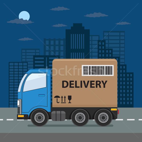 Camion de livraison ville produit expédition Photo stock © Neokryuger