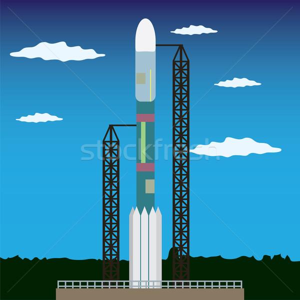 ракета готовый запуск Постоянный пространстве Сток-фото © Neokryuger
