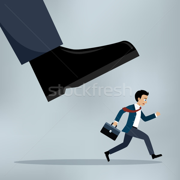 Businessman under a big shoe. Stock photo © Neokryuger