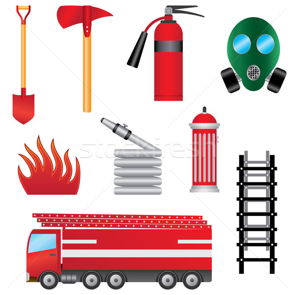 set of fire prevention objects. Stock photo © Neokryuger