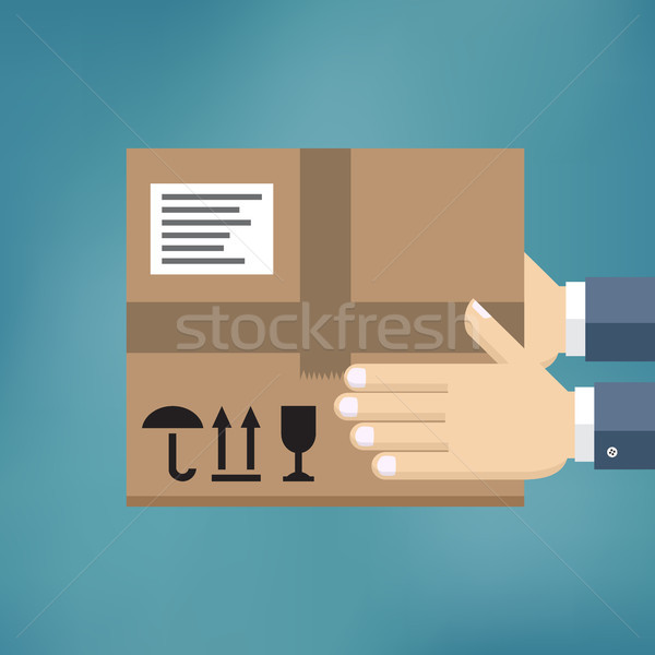 Delivery service concept. Stock photo © Neokryuger
