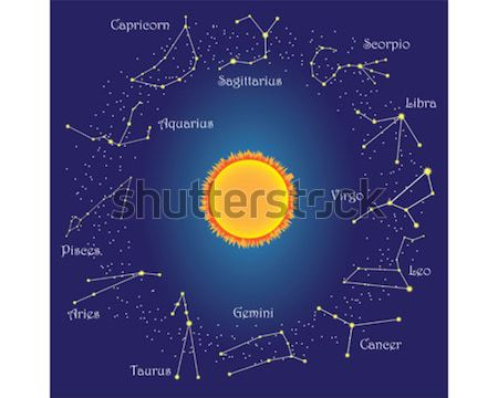 Zodiac constellations around sun Stock photo © Neokryuger