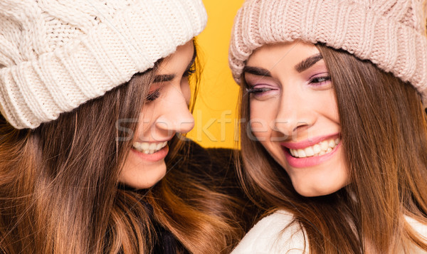 Happy young sisters twins posing. Stock photo © NeonShot