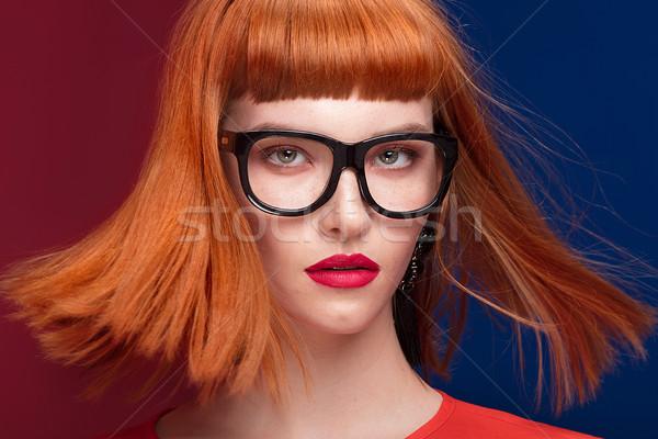 Coloré portrait femme jeunes belle femme Photo stock © NeonShot