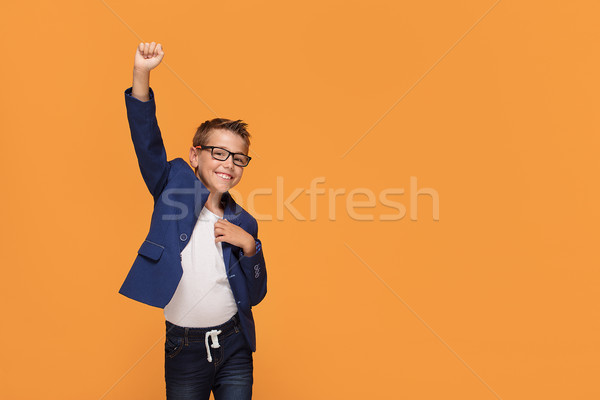 エレガントな 男 眼鏡 笑みを浮かべて 幸せ ストックフォト © NeonShot