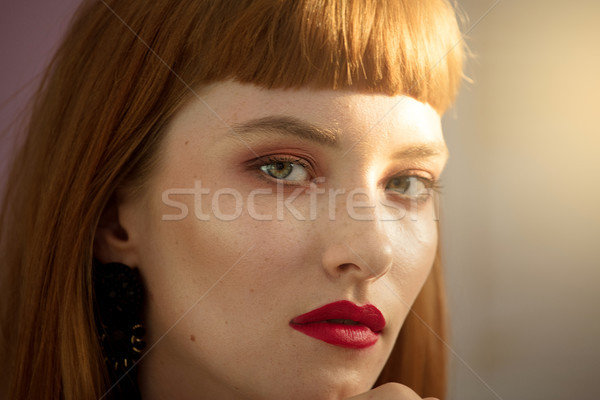 Belleza retrato mujer primer plano naturales Foto stock © NeonShot