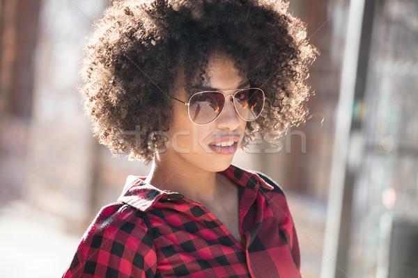 Menina africano penteado elegante jovem africano americano Foto stock © NeonShot