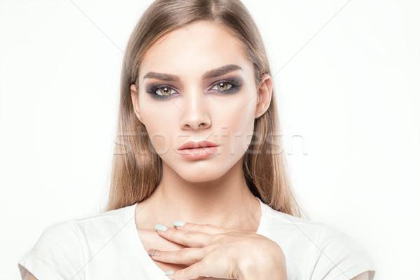 Beauté portrait fille élégante femme Photo stock © NeonShot