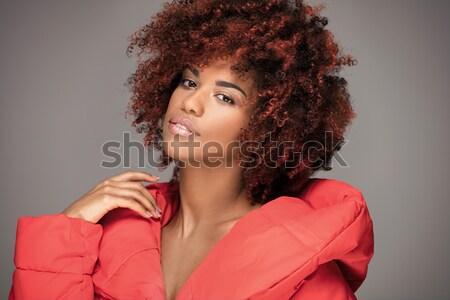 Fashion portrait of african american girl. Stock photo © NeonShot