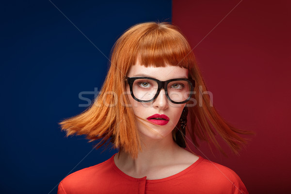 Foto d'archivio: Colorato · ritratto · donna · giovani · bella · donna