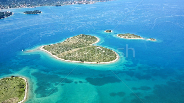 heart shaped Galesnjak island on the adriatic Stock photo © NeonShot