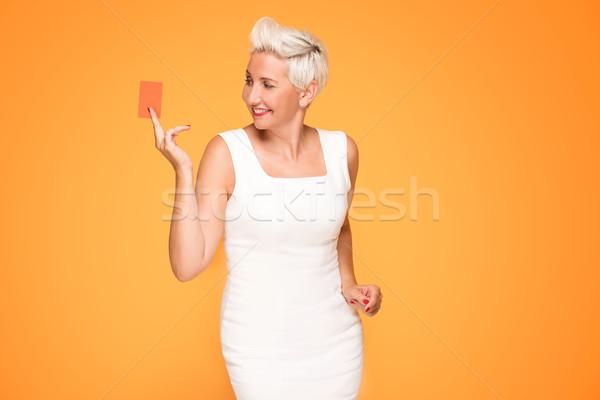 Stockfoto: Poseren · creditcard · tevreden · winkelen · mode