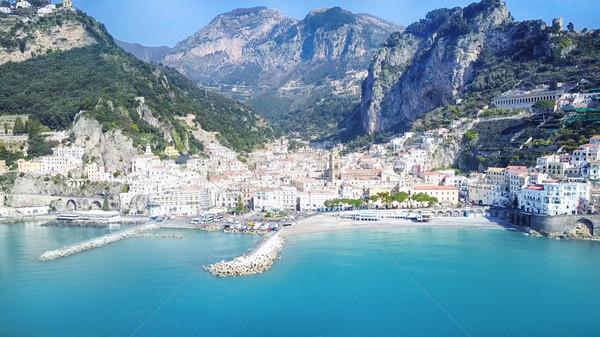 Beautiful Amalfi coast village in Italy. Stock photo © NeonShot