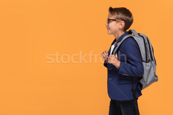 男子生徒 リュックサック 笑みを浮かべて 眼鏡 立って ストックフォト © NeonShot