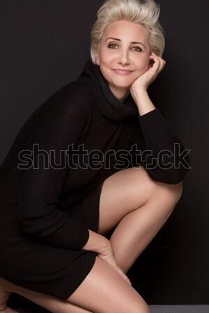 красивой короткий прическа блондинка кавказский Сток-фото © NeonShot
