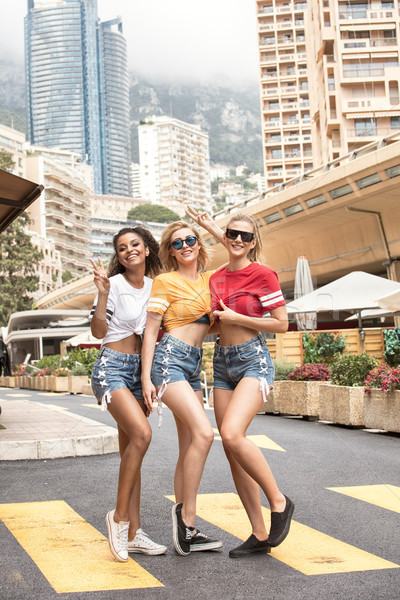 Happy girls having fun in Monte Carlo, summer time. Stock photo © NeonShot