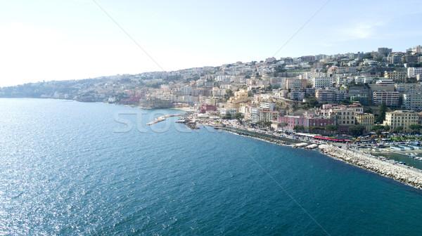 Güzel manzara Napoli İtalya atış su Stok fotoğraf © NeonShot