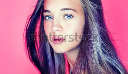 Schoonheid portret blond sensueel vrouw romantische Stockfoto © NeonShot
