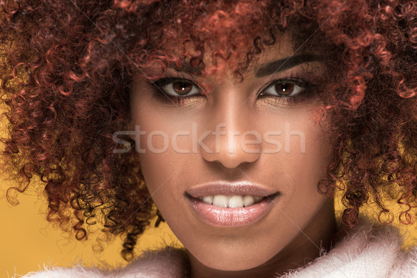Portrait of beautiful girl with afro hairstyle. Stock photo © NeonShot