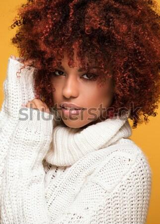 Photo stock: Beauté · portrait · afro · jeunes · mode · dame