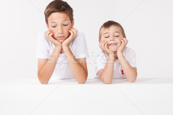 два мало братья позируют студию Семейный портрет Сток-фото © NeonShot