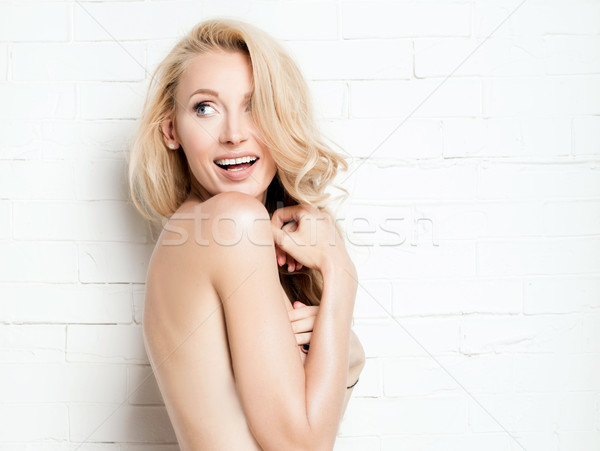 Portre güzel sarışın kadın genç çekici uzun Stok fotoğraf © NeonShot