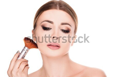 Szépség portré nő smink fiatal természetes Stock fotó © NeonShot