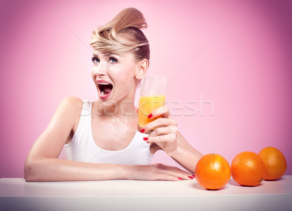 Happy girl with toothy smile. Stock photo © NeonShot
