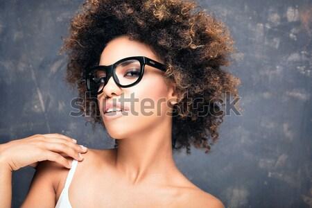 портрет афро молодые красивой афроамериканец Сток-фото © NeonShot